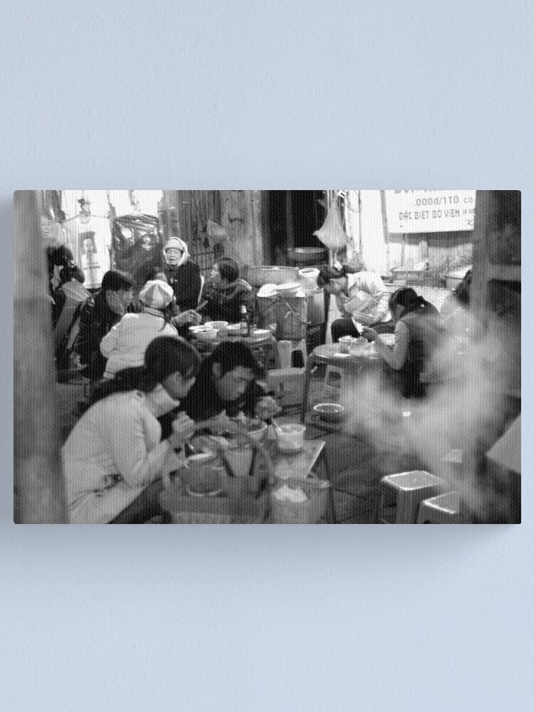 Alternate view of Street Barbeque in Hanoi Old Quarter Canvas Print