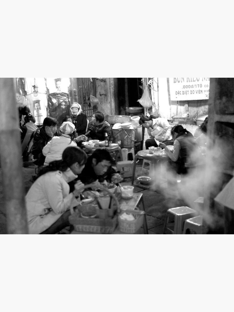 Street Barbeque in Hanoi Old Quarter by alexsupertramp