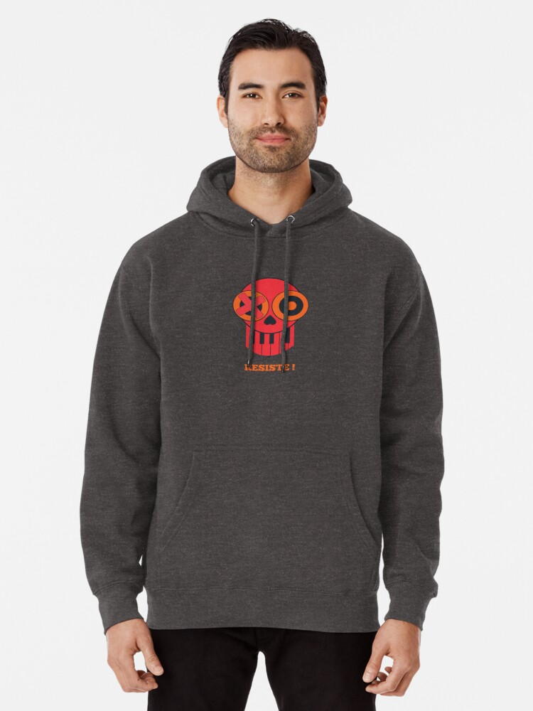 Alternate view of Skull - resist Pullover Hoodie