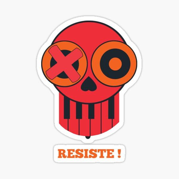 Skull - resist Sticker