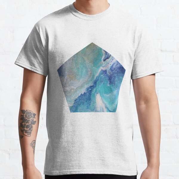 Dancing Tides: Acrylic Pour Painting Classic T-Shirt