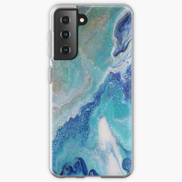 Dancing Tides: Acrylic Pour Painting Samsung Galaxy Soft Case