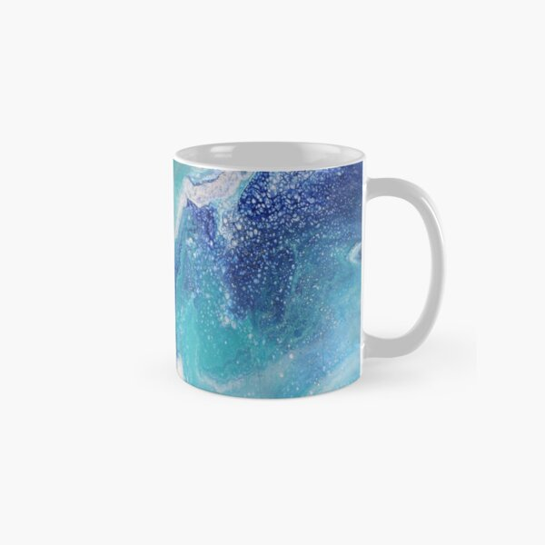 Dancing Tides: Acrylic Pour Painting Classic Mug