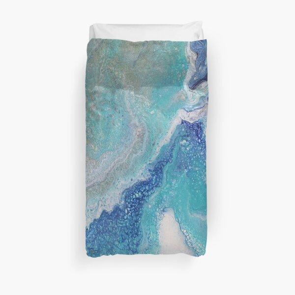 Dancing Tides: Acrylic Pour Painting Duvet Cover