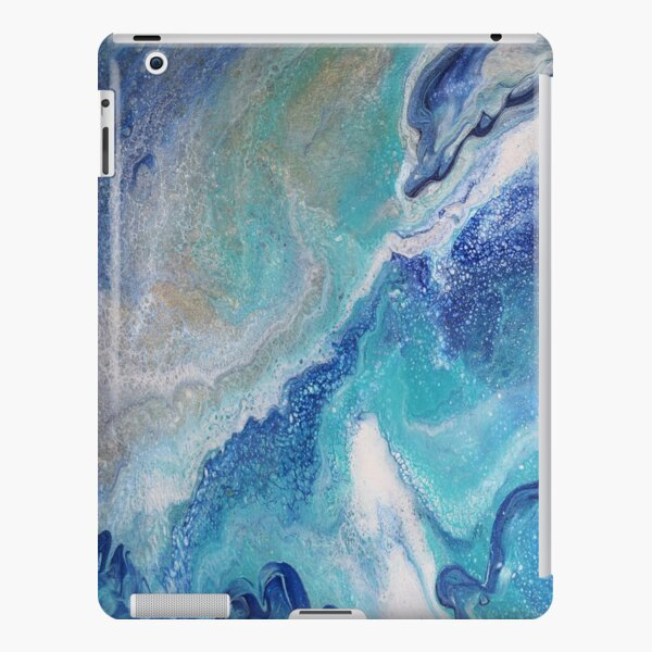 Dancing Tides: Acrylic Pour Painting iPad Snap Case
