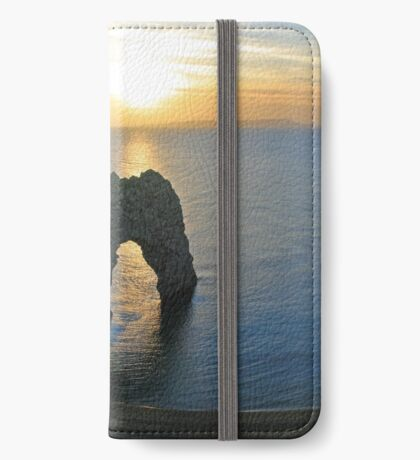Sunset over Durdle Door iPhone Wallet