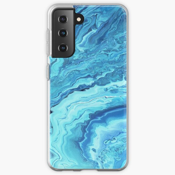Teal Geode: Acrylic Pour Painting Samsung Galaxy Soft Case
