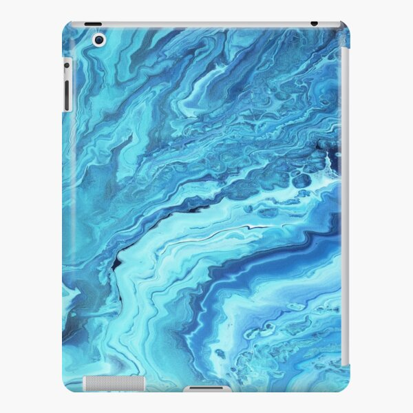 Teal Geode: Acrylic Pour Painting iPad Snap Case