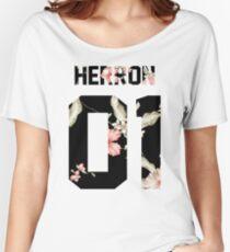 Zach Herron - Dark Floral Women's Relaxed Fit T-Shirt