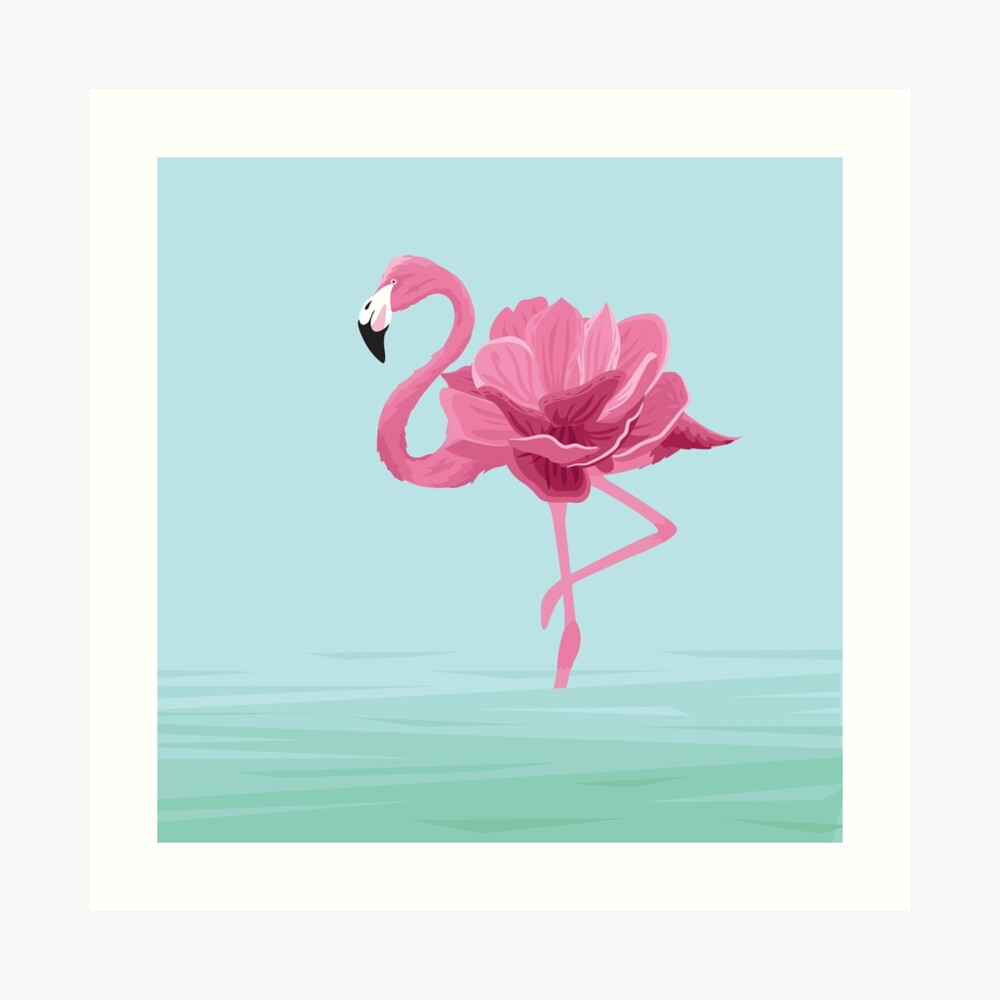 Flowermingo Art Print