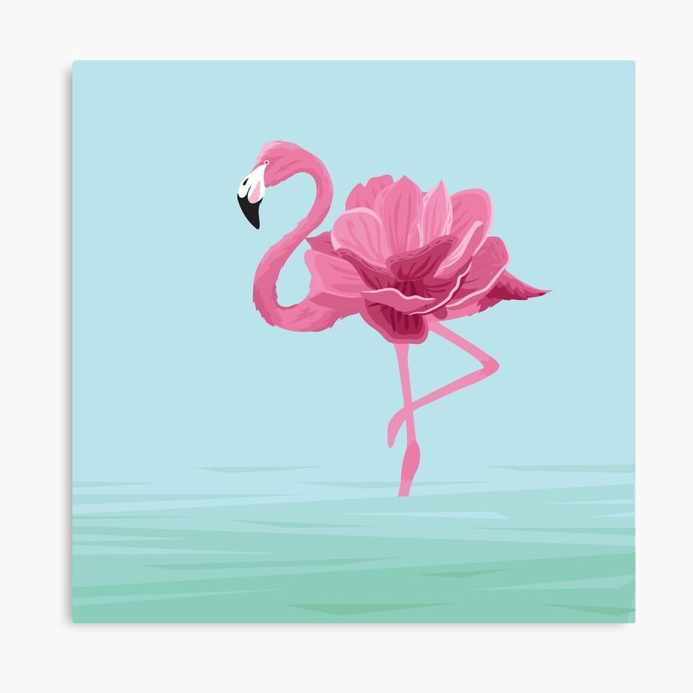 Flowermingo Canvas Print