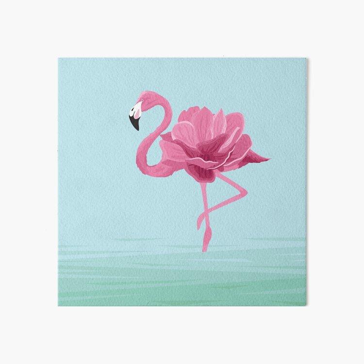 Flowermingo Art Board Print