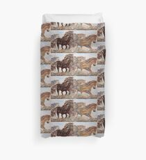 Kicking up Dust Duvet Cover