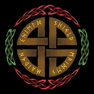 Shield Maiden Knotwork Circle by Sarinilli