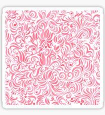 Russian watercolor red pattern Sticker