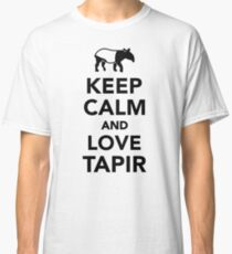 Keep calm and love tapir Classic T-Shirt