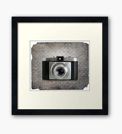 iLoca 35mm Camera Vintage Black and White Framed Print