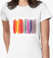 willow stripe Women's Fitted T-Shirt