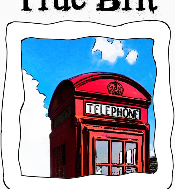 True Brit - Red British Phone Box T-Shirt by Mark Tisdale