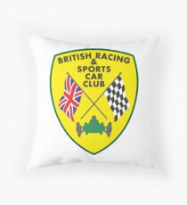 British Racing & Sports Car Club Throw Pillow