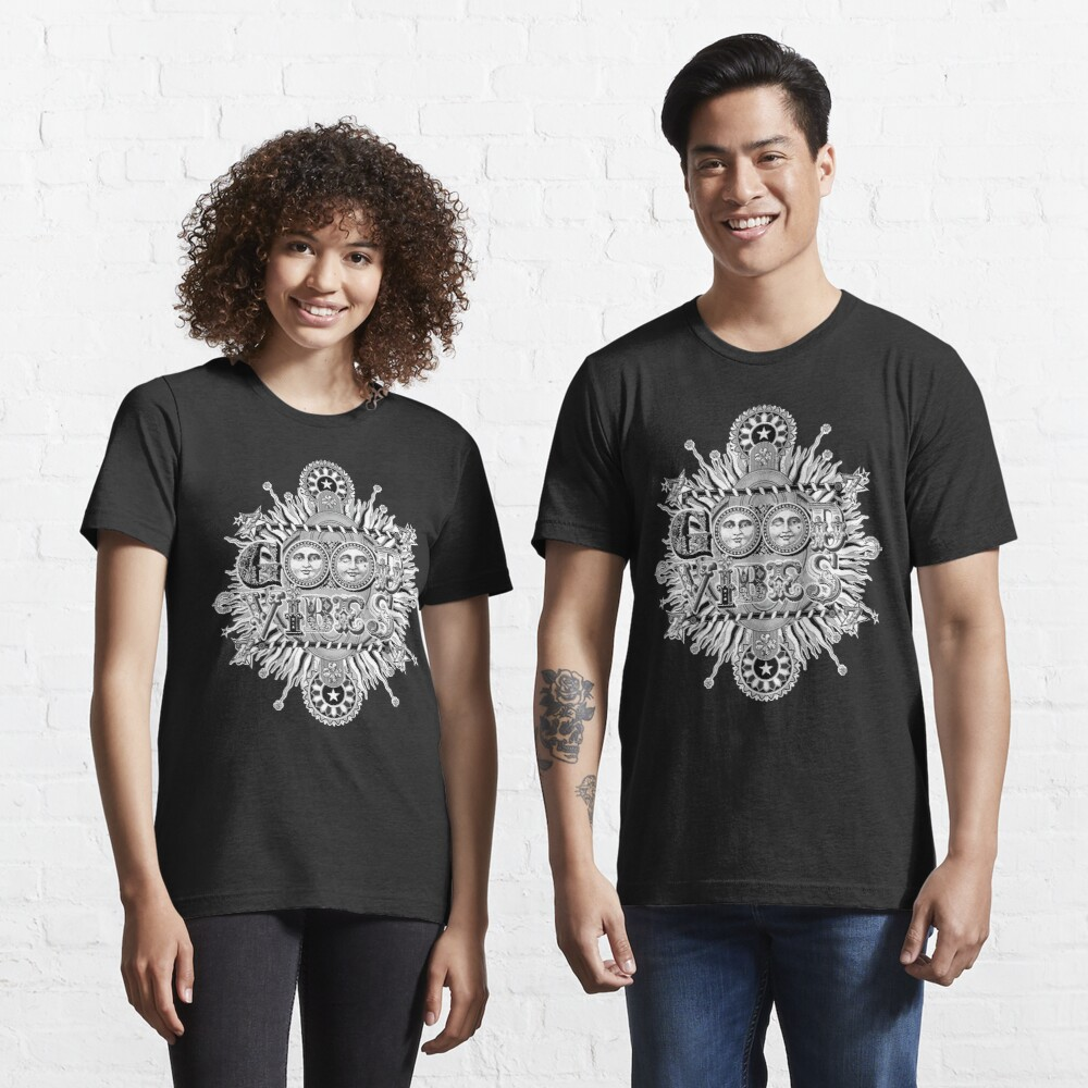 GOOD VIBES >> T-SHIRT , APPAREL, STICKER ,CLOCK, ETC Essential T-Shirt