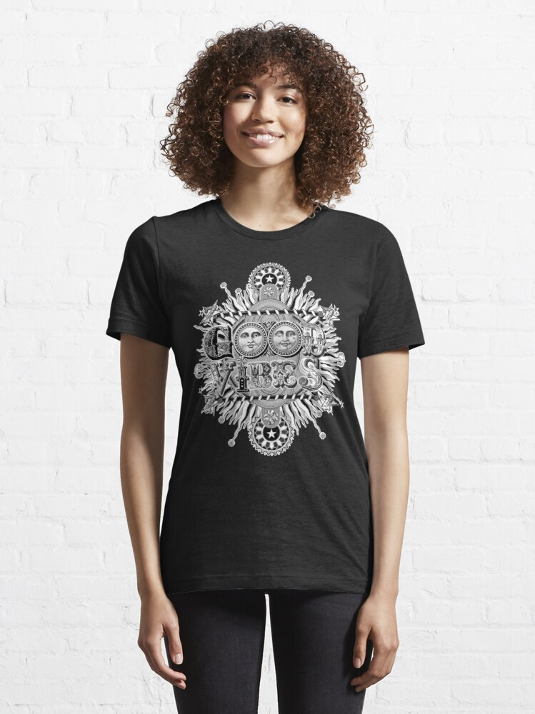 Alternate view of GOOD VIBES >> T-SHIRT , APPAREL, STICKER ,CLOCK, ETC Essential T-Shirt