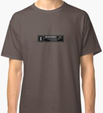 Introvert Movie Rating Classic T-Shirt