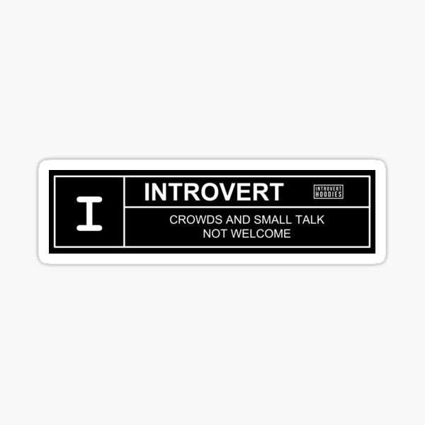 Introvert Movie Rating Sticker
