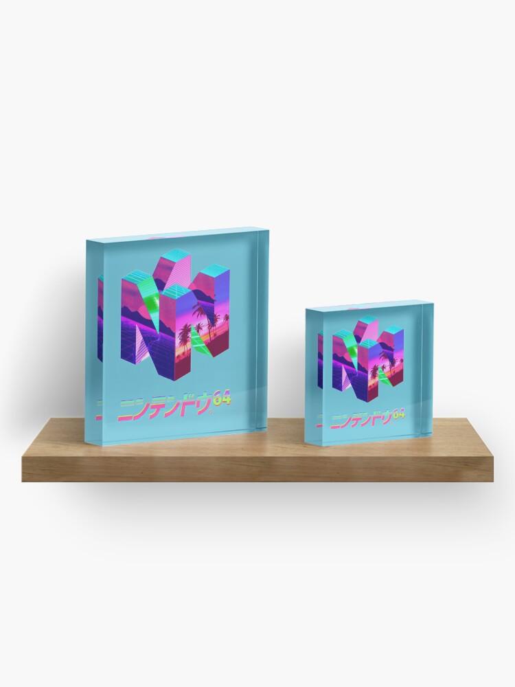 Alternate view of Nintendo 64 Vaporwave Acrylic Block