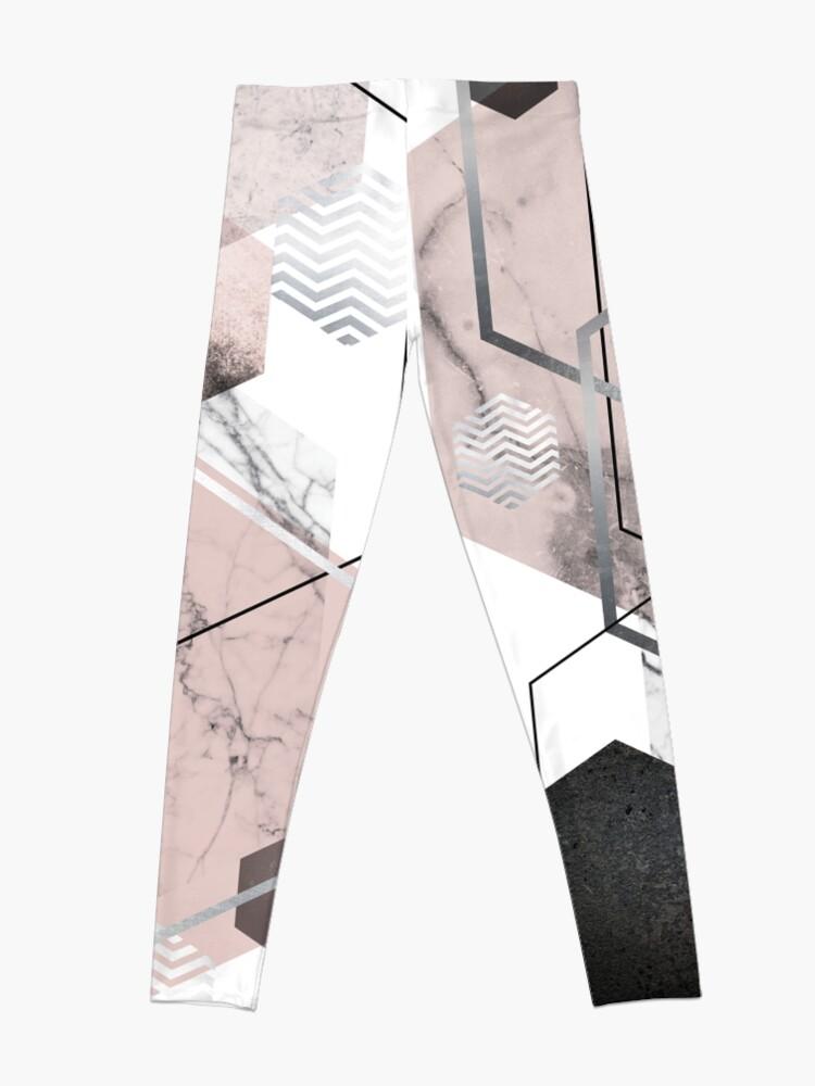 Alternate view of Blush and Grey Geometric Leggings