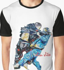 Jitsu-Blue - Bjj /Jiu-Jitsu Painting - Design By Kim Dean Graphic T-Shirt