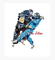 Jitsu-Blue - Bjj /Jiu-Jitsu Painting - Design By Kim Dean Photographic Print