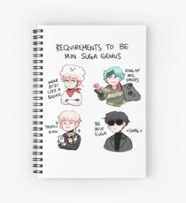 BTS: HOW TO BE MIN SUGA  Spiral Notebook