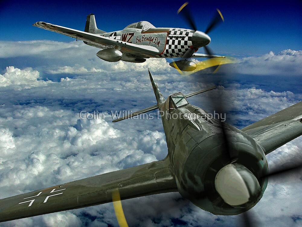 P51 Battles  FW190 by Colin  Williams Photography