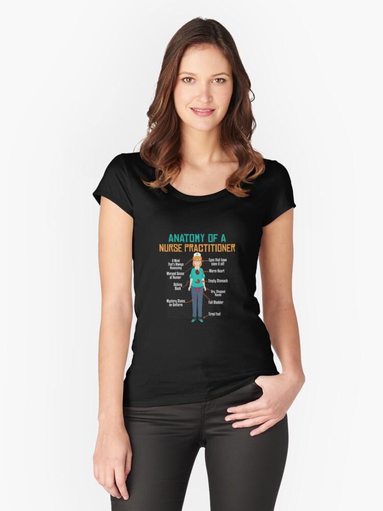 Camisetas entalladas de cuello redondo «Anatomía de una enfermera ...