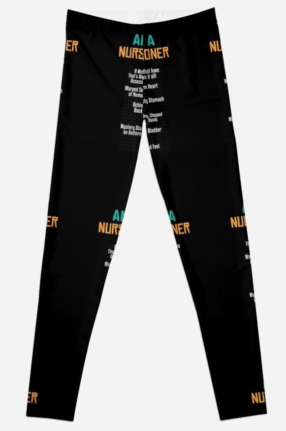 Legging «Anatomía de una enfermera \ | Enfermera camisetas Divertido ...