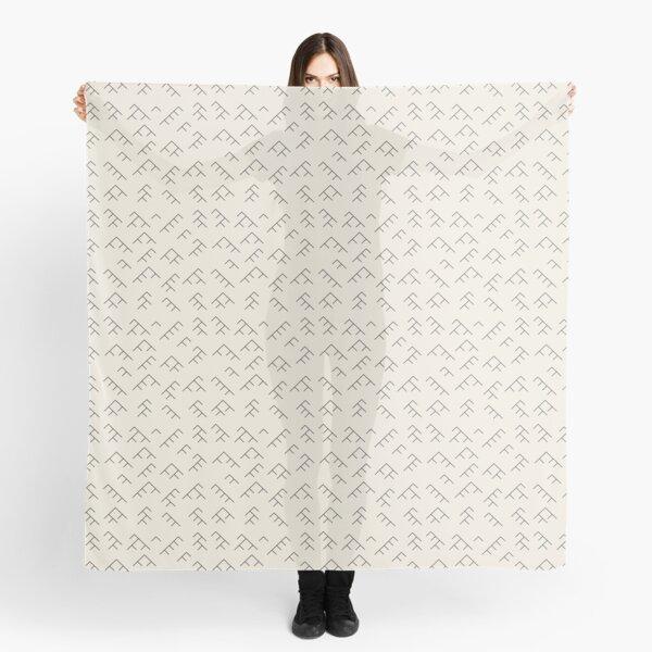 Tree diagram scarf - cream and black Scarf