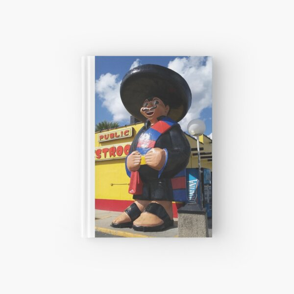Funny Mexican Mariachi Statute Photo Hardcover Journal
