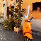 Yellow Vespa, Rome by Roz McQuillan