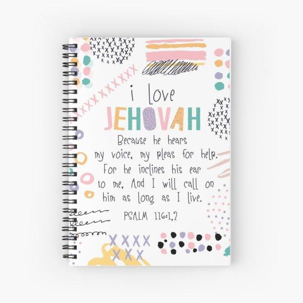 PSALM 116:1,2 Spiral Notebook