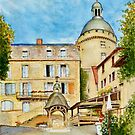 Hautefort Château and Village Well, Nouvelle Aquitaine, France by Dai Wynn