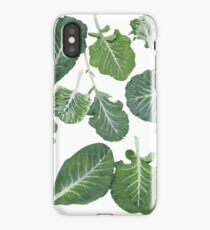 We're eating these wonderful collard greens... iPhone Case