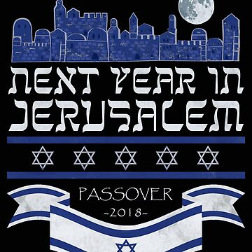 Passover 2018 Next Year in Jerusalem Pesach Jewish T-Shirt by INFPMama