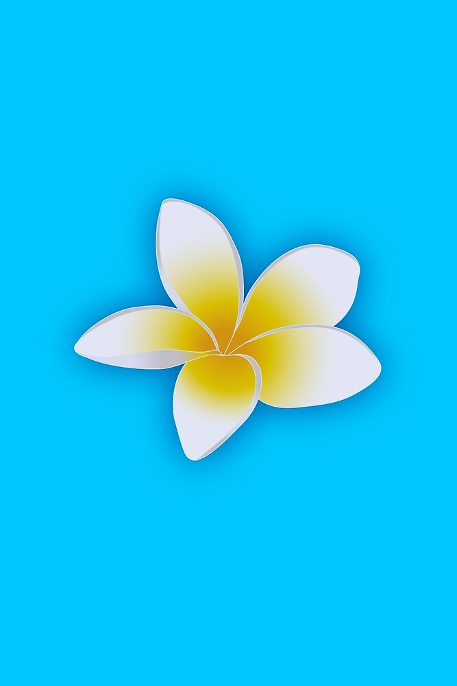 Plumeria Blossom in White and Yellow by Bonnie M. Follett
