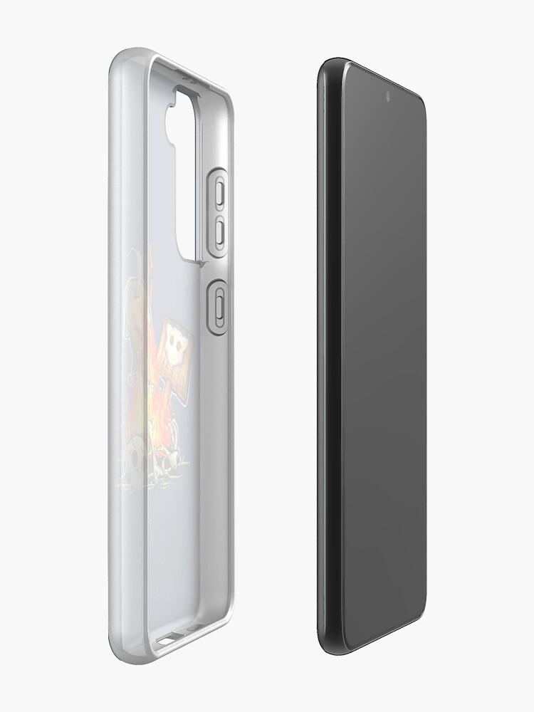 Alternate view of GoEaSyTwitch Bonfire Samsung Galaxy Phone Case