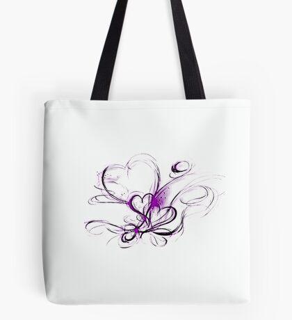 Swirly Hearts Tote Bag