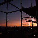 Scaffolding at Sunset by Steve Hammond