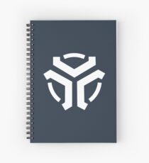 Vergeron Logo Dark Blue Spiral Notebook
