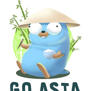 Gopher Golang Go Asia  by clgtart