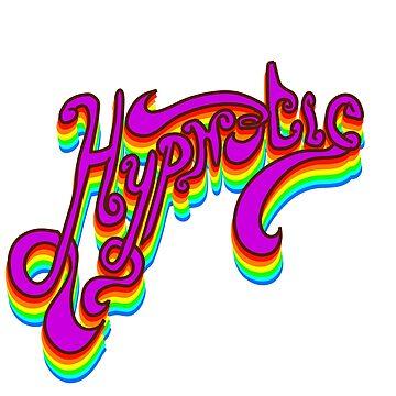 Hypnotic 1970's Rainbow Font Design by rhoadsette
